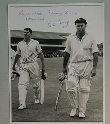 Photograph of Peter Burge & Neil Hawke, England v Australia Test - Leeds 1964