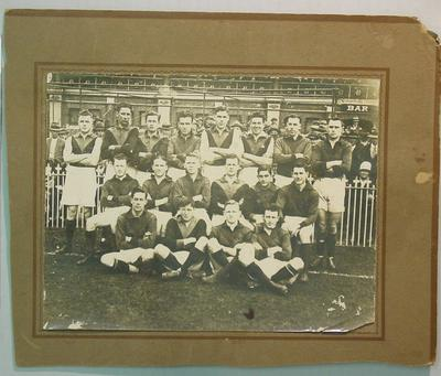 Black and white photograph of Unidentified Football Team c.1920 at MCG