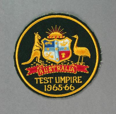 Badge -  Australian Test Umpire season 1965-66