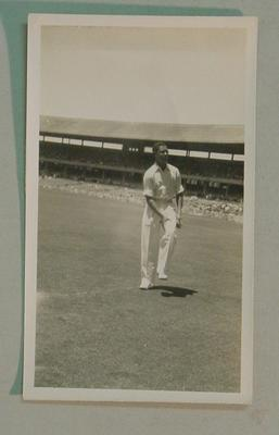 Black and white  photograph of West Indian cricketer Robert Christiani.