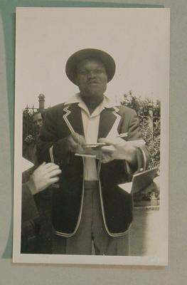 Black and white  photograph of West Indian Cricketer Wilfred Ferguson.