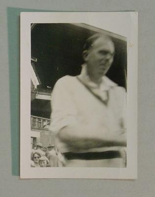 Black and white photograph of Australian Cricketer William Johnston.