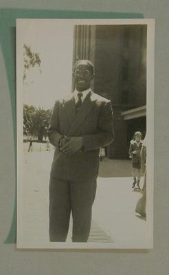 Black and white photograph of West Indian  Cricketer Alfred Valentine.