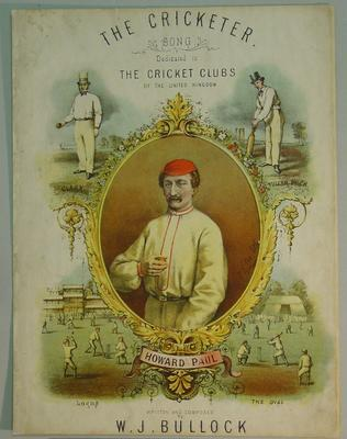 "Sheet music booklet, ""The Cricketer"""