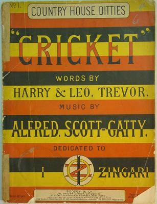 "Sheet music booklet, ""Cricket"""