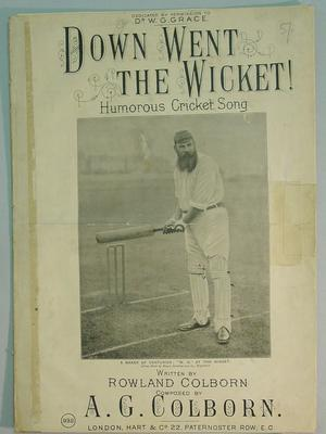 """Sheet music booklet, """"Down went the Wicket!"""""""