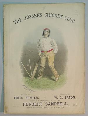 "Sheet music booklet, ""The Josser's Cricket Club"""
