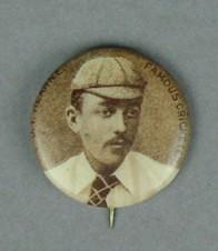 Badge with image of John Hearne, c1897