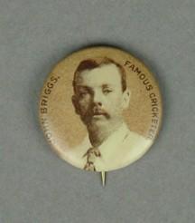 Badge with image of John Briggs, c1897