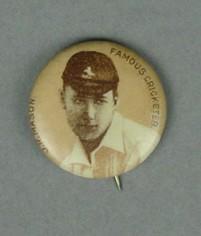 Badge with image of John Mason, c1897