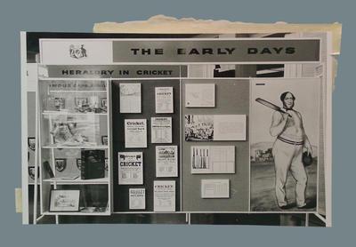 Photograph of cricket exhibition, Qantas Gallery - London, 1961
