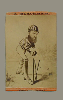 "Trade card, ""J. Blackham, How's that Umpire"""