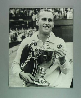 Black and white photograph - tennis champion Neale Fraser  - Wimbledon 1960