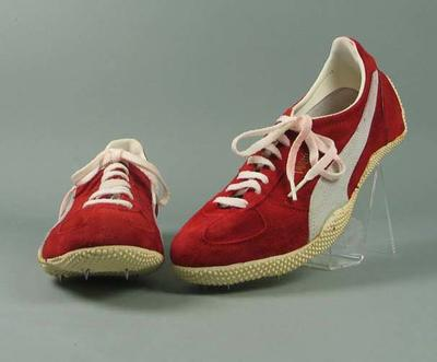 """Pair of Puma """"Special 242"""" high jump shoes"""