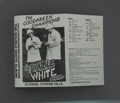 "Audio cassette jacket,""The Double White Album""; Audio-Visual; M2351.6"