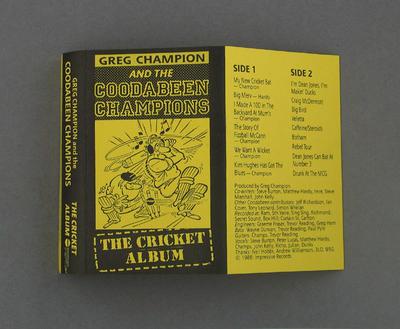 "Audio cassette jacket, ""The Cricket Album""; Audio-Visual; M2351.12"