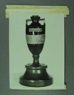 Photograph, The Ashes urn