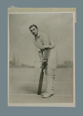 Photograph of C B Fry, undated