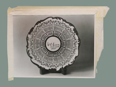 Photograph of ceramic plate, W G Grace Century of Centuries; Photography; M2400