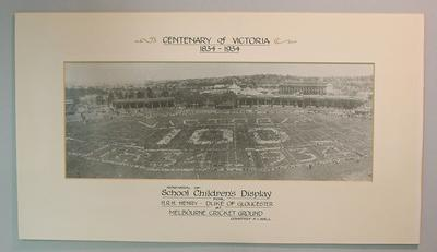 Photograph of School Children's Display for Centenary of Victoria on MCG, 1934