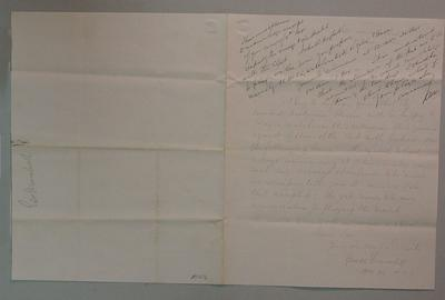 Letter from George Marshall to Richard Wardill, 8 Nov 1860; Documents and books; M1212