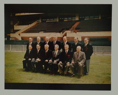 Photograph of Melbourne FC officials, c1957