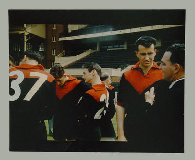 Photograph of Melbourne FC players, c1957; Photography; M280.8
