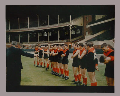 Photograph of Melbourne FC players, c1957; Photography; M280.10