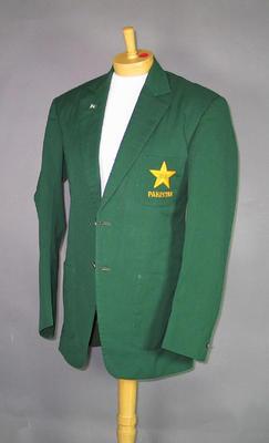 Pakistan cricket team blazer, worn by Qasim Omar