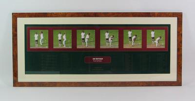 Framed print of Ian Botham; Artwork; Framed; M8812