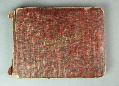 Autograph book containing signatures of Australian cricketers, c1934