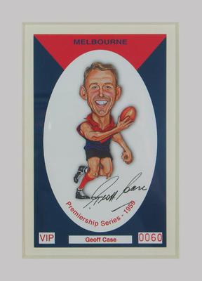 Melbourne FC 1959 Premiership commemorative trade card, Geoff Case