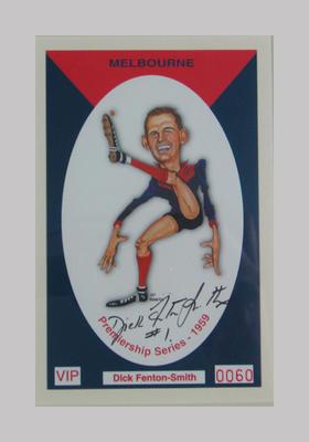 Melbourne FC 1959 Premiership commemorative trade card, Dick Fenton-Smith