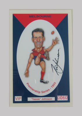 Melbourne FC 1959 Premiership commemorative trade card, Robert Johnson