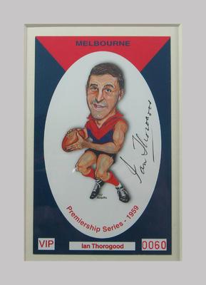 Melbourne FC 1959 Premiership commemorative trade card, Ian Thorogrood
