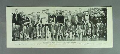 Reproduction - cycling photograph ' Exceptional Array of Pre-War Scratch Markers'