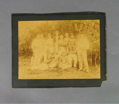 Photograph depicting members of a Melbourne Cricket Club cricket team at Lorne, Easter 1892; Photography; M8665