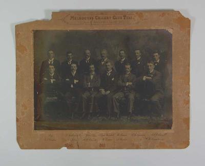 Photograph of Melbourne Cricket Club team, 1901; Photography; M8666