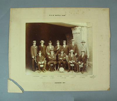 Photograph of Melbourne Cricket Club skittle team, 1899; Photography; M8682