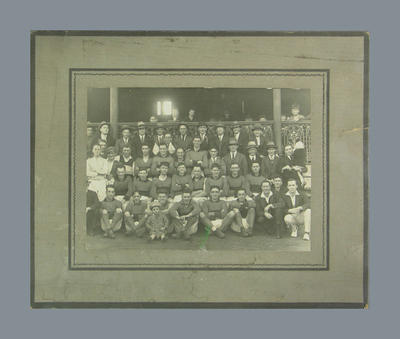 Photograph of unidentified MCC Football Section team