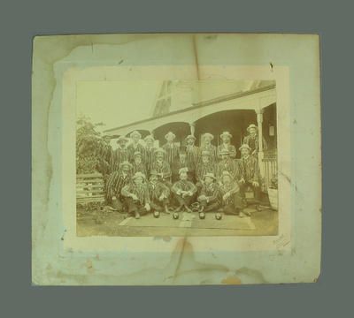 Photograph of unidentified MCC Bowls Section team; Photography; M8726