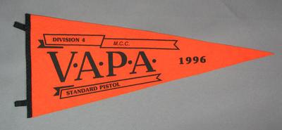 Pennant for VAPA Standard Pistol Division 4, 1996