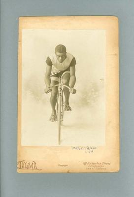 Photograph - cyclist Marshall W. 'Major' Taylor, U.S.A.
