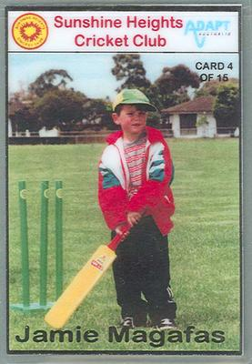 Trade card produced by Sunshine Heights Cricket Club, 1998; Documents and books; M8776.4