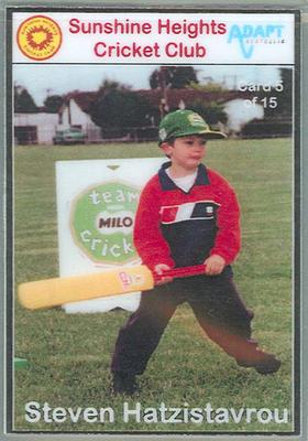 Trade card produced by Sunshine Heights Cricket Club, 1998; Documents and books; M8776.5