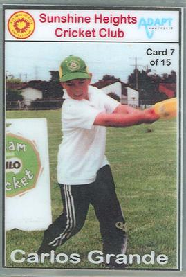 Trade card produced by Sunshine Heights Cricket Club, 1998; Documents and books; M8776.7