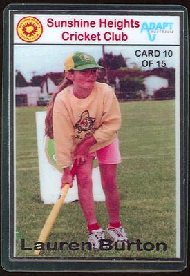 Trade card produced by Sunshine Heights Cricket Club, 1998; Documents and books; M8776.10