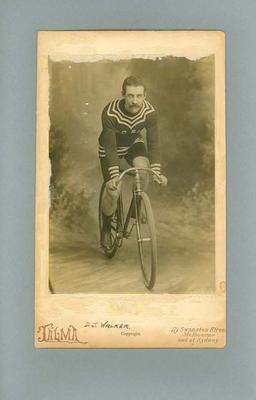 Photograph -  D. J. Walker, champion Victorian cyclist
