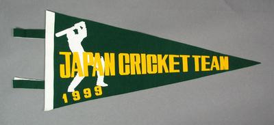 Pennant for Japan Cricket Team, 1999