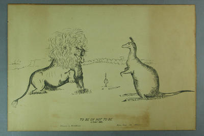 Lithograph, To Be or Not To Be 17 Feb 1883
